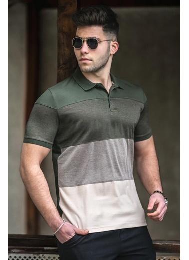 Madmext   Polo Yaka Erkek Tişört 5103 Haki
